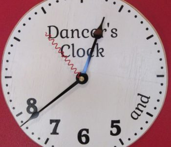 Clock with dance steps