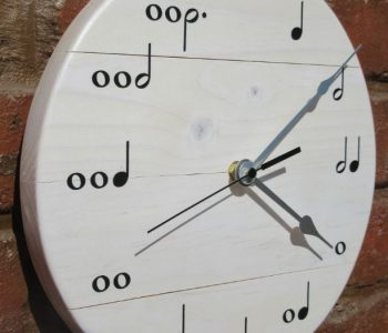 clock with music notes