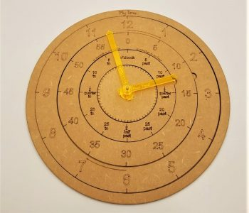 Laser Cut Clock - Learn to tell the Time